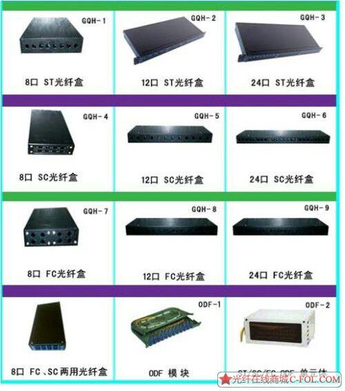 各种型号光纤配线架,光纤盒,理线架,ODF架