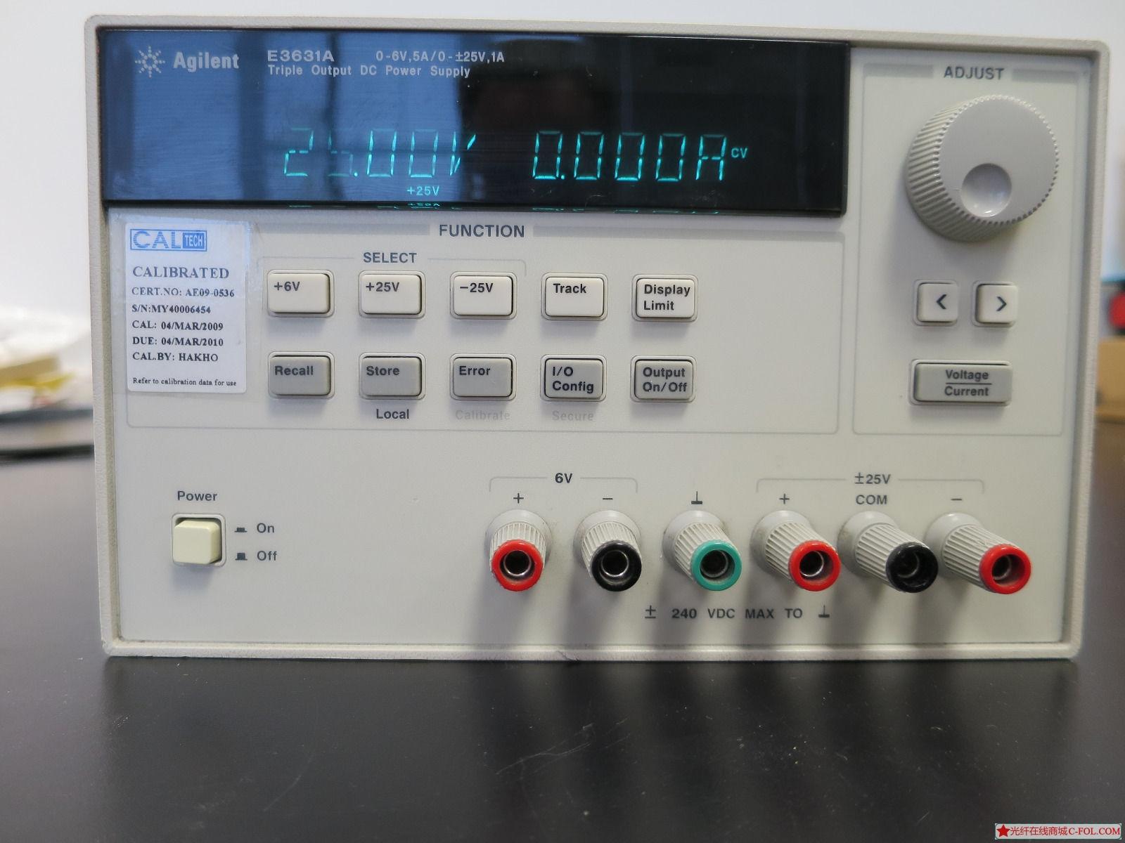 安捷伦 E3631A  输出电源