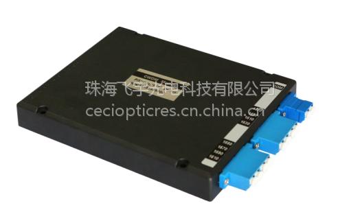 波分复用器CWDM1470-1610nm 法兰输出 黑色小盒子LC