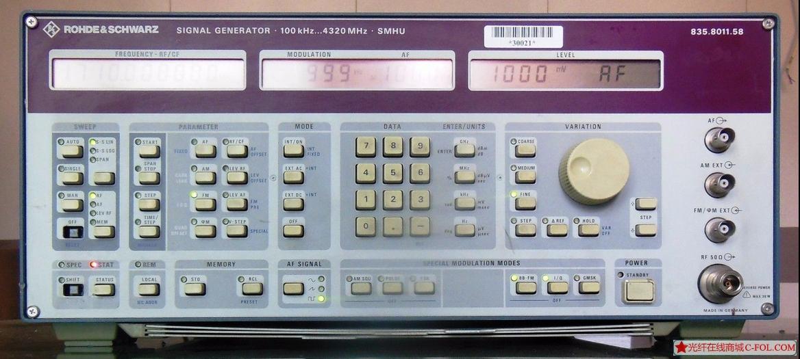 罗德与施瓦茨  SMHU 4G信号发生器