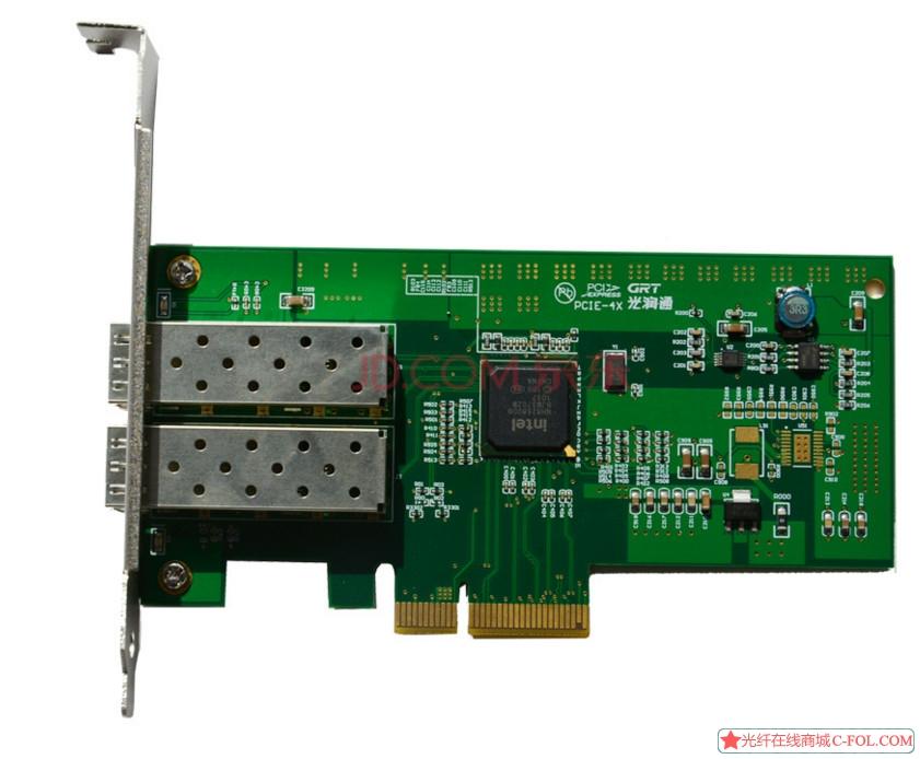 光润通F902E-V3.0 82580EB工业级芯片 以太网双光口网卡