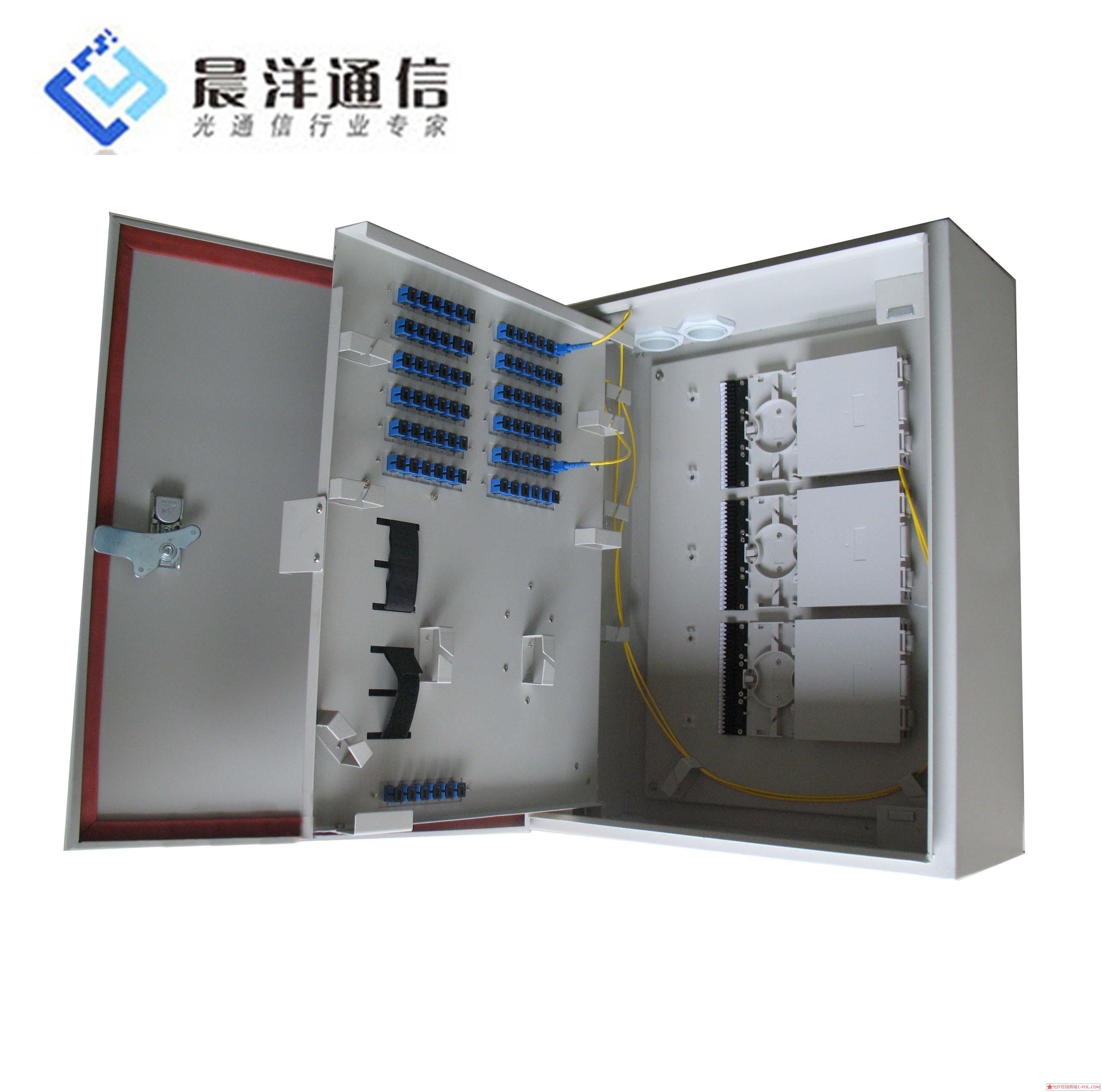 挂墙式72口金属分光箱 冷、热熔接、分光、配线