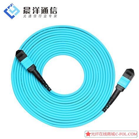 12芯万兆多模40G光纤跳线MPO-MPO光纤跳线3米