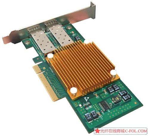 光润通10G SFP+双光口网卡82599芯片F1002E-V3.0